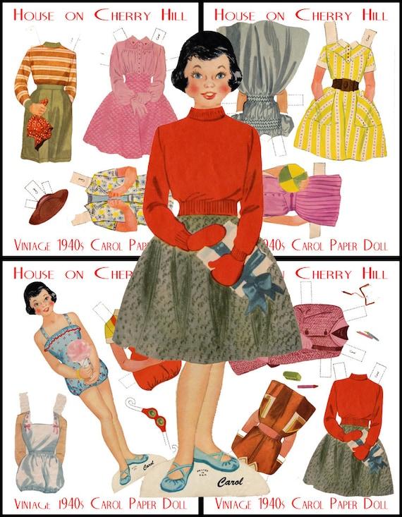 Essay 1940 S Fashion: Carol Digital Paper Doll Church Collectable By