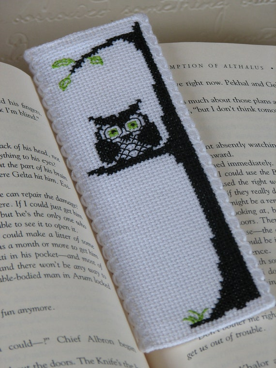 Bookmark Cross Stitch Pattern Owl Be Watching You Immediate