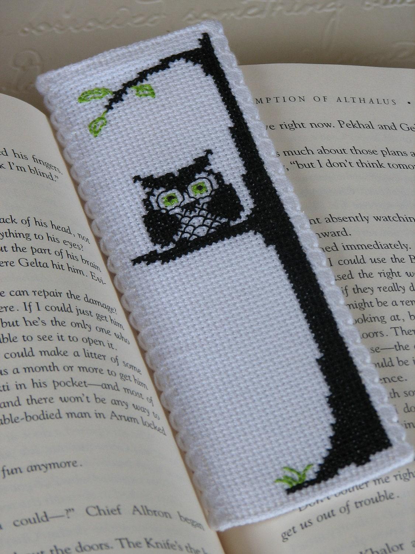 Bookmark Cross Stitch Pattern Owl Be Watching You Immediate