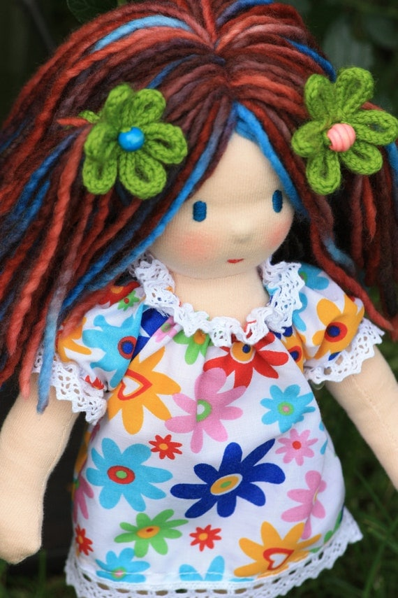 """Waldorf doll,12"""" tall,soft toy named Ramune (Daisy),"""
