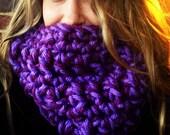 Purple EXTRA CHUNKY cowl,  chunky neckwarmer, teen cowl, warm Christmas gift, gift guide 2012, deep purples