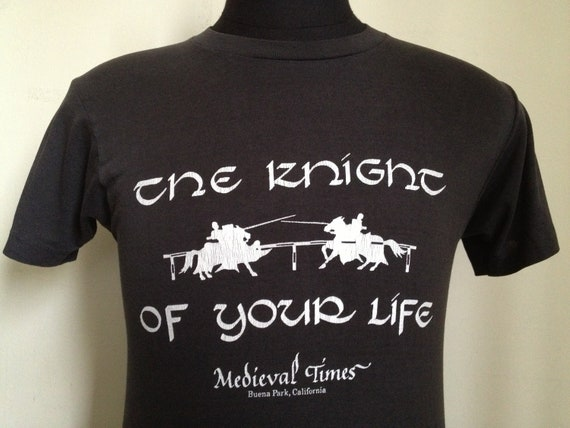 80s Vintage Knight of Your Life Medieval Times T-Shirt - MEDIUM