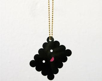Necklace, Cookie, Smile, black