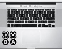 Konami Code vinyl decal for the Macbook Trackpad - Trackpad decal - Macbook decal - Car decal