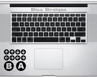 Konami Code vinyl decal for the Macbook Trackpad - Trackpad decal - Macbook decal - Car decal