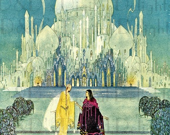 RARE Glittering Palace. DECO French Fairy Tale Digital Download. Vintage Fairy Tale Digital Download. Virginia Sterrett. From FIRST Edition