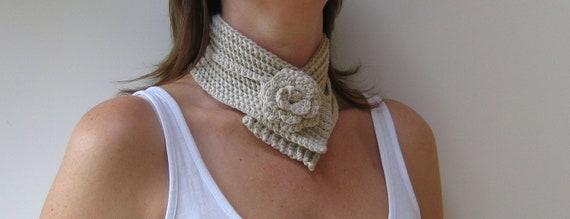 Crochet Pattern Flower Scarf Neckwrap INSTANT DOWNLOAD PDF, Cosy, choker, uk or us crochet terms, No11