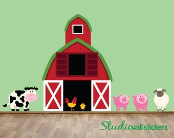 HUGE REUSABLE Farm Wall Decal - Childrens Decal
