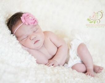 FREE SHIPPING! Pink Newborn Headband, Pink Headbands, Baby Headbands, Pink Baby Headband, Pink Flower Headband, Newborn Headbands