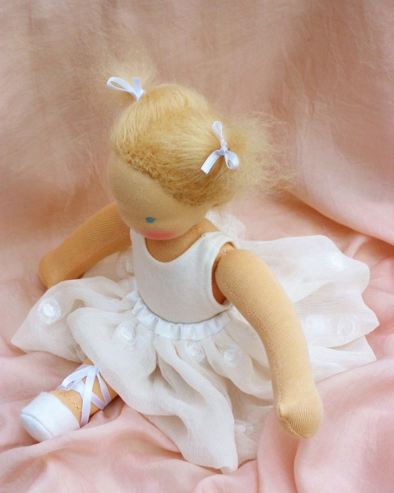 Ballerina two outfits Waldorf doll 12 inch/ 30 cm by Puppula