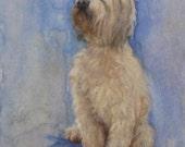 Dog Art PRINT, Print from my original watercolor, Jackie Garrick-Waldman