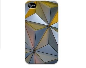Epcot Ball iphone 6 case, Disney iphone 7 case, Geometric iphone 5 case, Triangle iphone se case, Metallic iphone case, silver iphone case