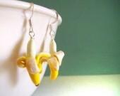 Miniature Banana Earrings, Cute Polymer Clay Food Jewelry, Miniature Food Women's Clay Earring Jewelry Handmade on Etsy