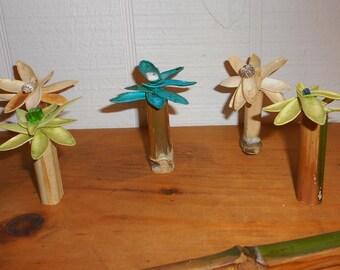 Home decor delicate Zen pod flowers Toona ciliata in bamboo vase