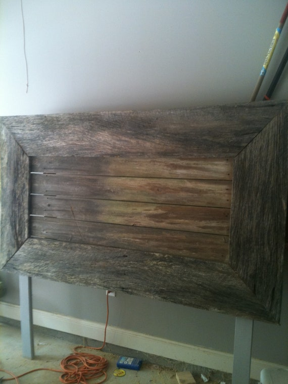 Rustic Headboard Made With Reclaimed Wood