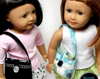 Pixie Faire Sew Urban The Urban Handbag Doll Clothes Pattern for 18 inch American Girl Dolls - PDF