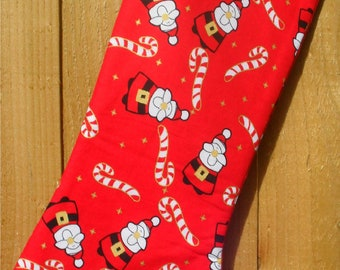 Santa and Candy Canes Christmas Stocking