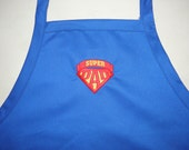 BBQ Apron For the SUPER DAD Custom Embroidered for Home or Grill - Made To Order