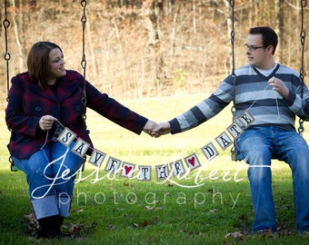 Save the Date Banner - Prop for Engagement Photos - in your custom colors