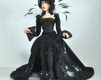 OOAK Fantasy Artdoll - BlackMoth - by Marina