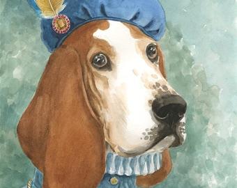 "11x14"" Custom Dog Portrait in Watercolor"
