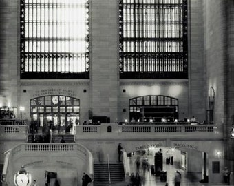 Black and White New York City Print, Grand Central Station, New York Photography, Office Decor