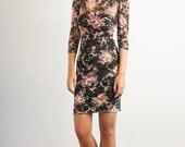 Spring Sale ~ Floral Print Lace Short Dress