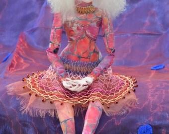 Art Doll - Handmade Beaded Fantasy Cloth Doll