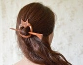 Fox barrette shawl  pin hair pin