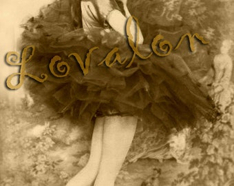 MATURE... Burlesque Ballet... Deluxe Erotic Art Print... 1920's Vintage Glamour Photo... Available In Various Sizes
