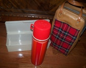 Thermos Picnic Set Bag Box King Seeley Thermos Co. Kit  ca 50 60s