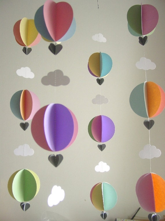 Baby Mobile Hot Air Balloons By Youngheartslove On Etsy