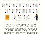 Cross Stitch Sampler, 8 Pattern Set -- Little Omar cross stitch sampler, parody, heroin, shotgun, honey-nut oats, bunk