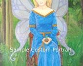 5x7 custom portrait acrylic painting made to order PLEASE READ DESCRIPTION
