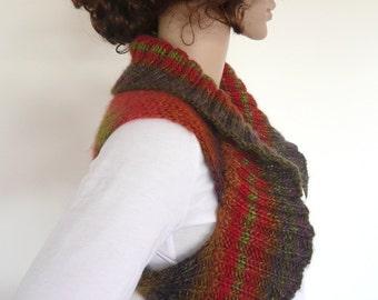 Hand Knit Vest, Red knit vest