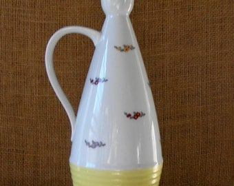 MID CENTURY Space Age Atomic Bottle Decanter Cabinet Envy Bottle Cute Hand Painted China Decanter