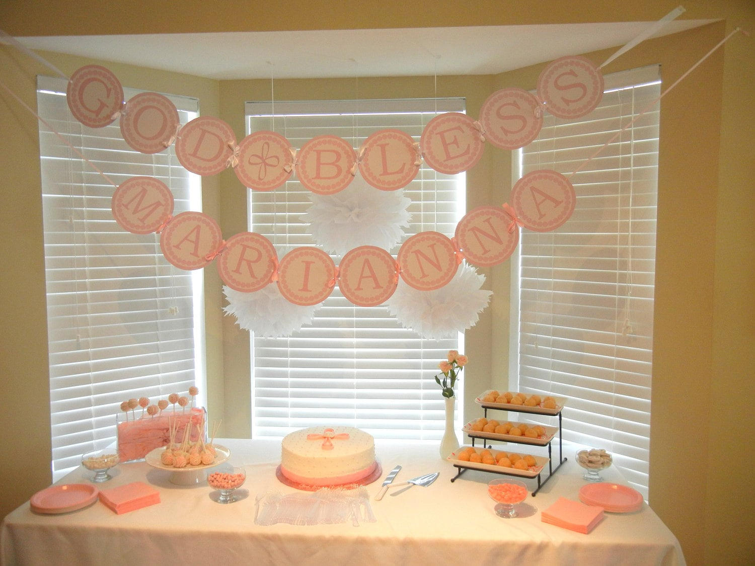 Girl Baptism Table Decoration Ideas