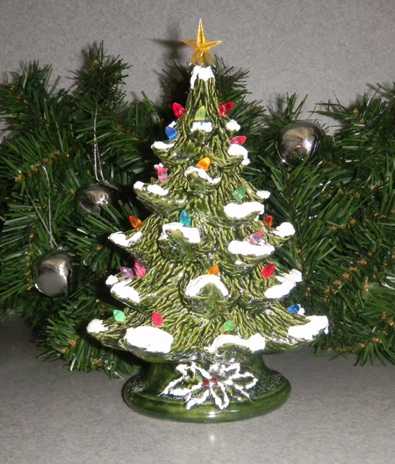 Small 7 Inch Ceramic Christmas Tree A Traditional Table Top