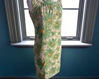 Vintage PAINTERLY floral mid century SHIFT DRESS