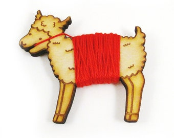 Flossy the Sheep Embroidery Floss Bobbin