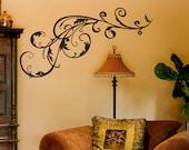 Swirl Vinyl Decal size SMALL - Swirl, Swirl Decal, Swirl Sticker, Swirl Wall Art, Flourish, Flourish wall art, Flourish Decal