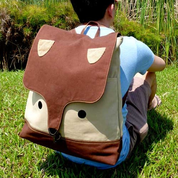 Backpack - The Fantastic Fox UNISEX BackPack (Brown Beige) 4 WEEKS TURNAROUND