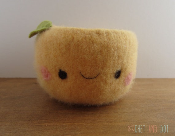 Happy Woolen Peach Bowl