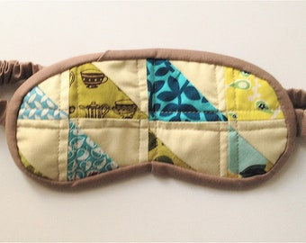 Quilted Triangles Sleep Mask