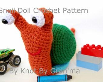 Snail Doll Amigurumi Toy Doll Crochet Pattern
