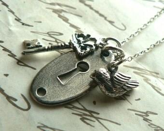 Hidden Door Sterling Necklace Hobbit Inspired Tolkien Thorin Oakenshield Jewelry