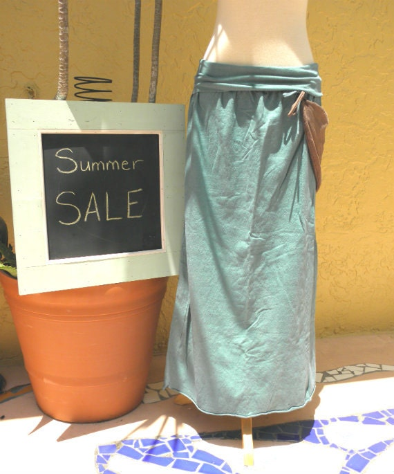 The Long Market Skirt in Organic Hemp Jersey. Summer Sale. Ready to ship.