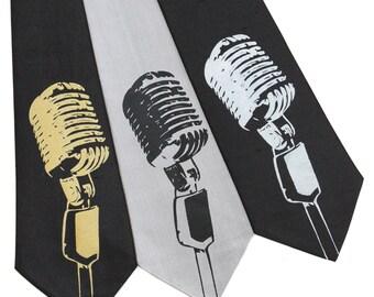 Microphone Silk Tie