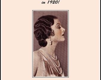 1920 Flapper Glamourous Hairstyles Book Water Waving Hair Water & Marcel Waving
