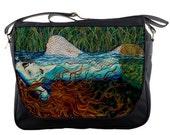 RW2 Mermaid Messenger bag art OPHELIA by Robert Walker purse laptop computer book bag back to school